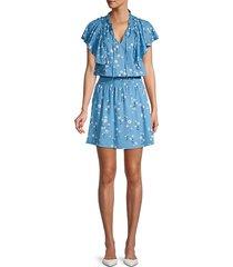 daisy-print dress