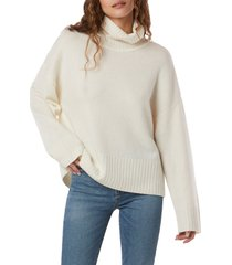 women's favorite daughter cowl neck wool & cashmere sweater, size small - white