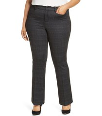 liverpool bootcut trousers, size 22w in grey/white at nordstrom