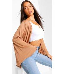 wide sleeve kimono, camel