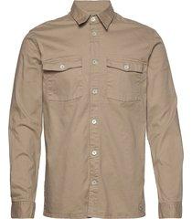 vermont overhemd casual beige minimum