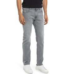 mott & bow stone slim fit stretch jeans, size 34 x 32 in light grey at nordstrom