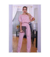 judith vleermuismouw jumpsuit roze