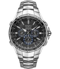 seiko men's solar chronograph coutura stainless steel bracelet watch 45mm ssg009