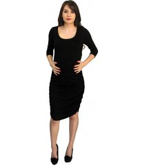 chic office career cocktail party black maternity dress usa, s, m, l or xl