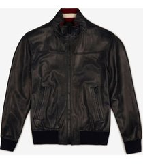 leather jacket blue 52