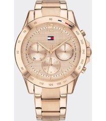 tommy hilfiger women's carnation gold bracelet watch rose gold -