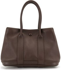 hermès 2007 pre-owned garden party tpm tote bag - brown