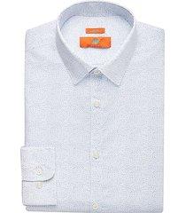 egara orange men's blue dot extreme slim fit dress shirt - size: 16 1/2 34/35