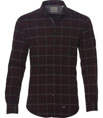 hensen overhemd - extra lang - bordeaux