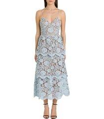 self-portrait floral lace dress