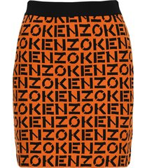 kenzo logo knitted skirt