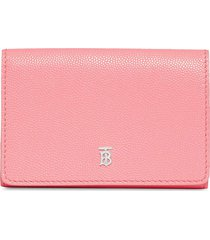 burberry small folding wallet - pink