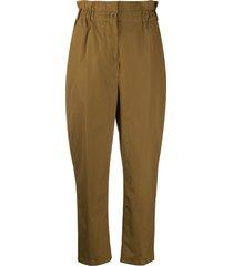 aspesi elastic waist trousers - brown
