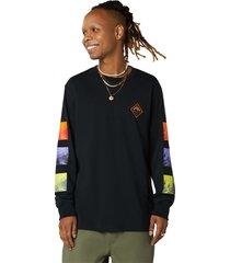 converse camiseta de manga larga tryptich black