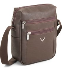 bolsa transversal masculina com compartimento térmico viccina