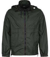 a.p.c. miles nylon windbreaker-jacket