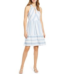 women's gibson x the motherchic newport stripe dress, size xx-large - blue