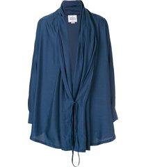 vivienne westwood anglomania tie up lightweight jacket - blue