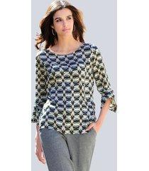 blouse alba moda grijs::cognac