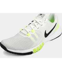 tenis training gris-blanco-verde nike flex control
