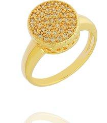 anel dona diva semi joias chuveiro dourado