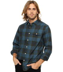 camisa verde tommy hilfiger high arch plaid shirt