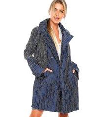 casaco triton reto azul/branco