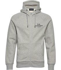 m original zip hood hoodie trui grijs peak performance