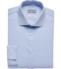 michael kors men's light blue slim fit dress shirt - size: 22 36/37