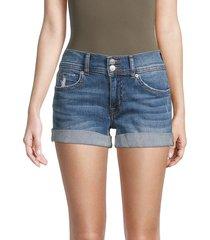 hudson women's ruby mid-rise denim shorts - blue - size 25 (2)