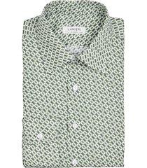 camicia da uomo su misura, canclini, seventies verde, quattro stagioni | lanieri