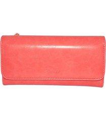billetera doble compartimiento rosado zenit 1962
