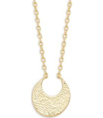 18k goldplated pendant necklace