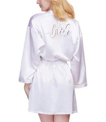 dreamgirl women's satin charmeuse bride robe with adjustable front tie closure