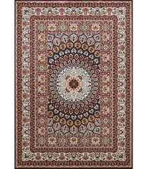 "asbury looms antiquities jaipur 1900 01639 58 burgundy 5'3"" x 7'2"" area rug"