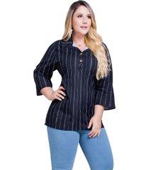 blusa adulto para mujer mp -estampado rayas