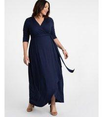 kiyonna women's plus size meadow dream maxi dress