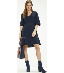 tommy hilfiger women's fit and flare dress sky captain - 6