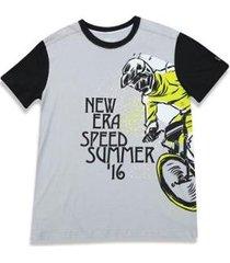 camiseta branded cinza new era - masculino