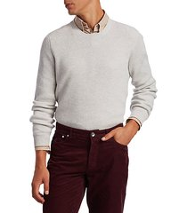 heathered ribbed cashmere pullover