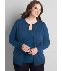 lane bryant women's button-front cardigan 22/24 legion blue