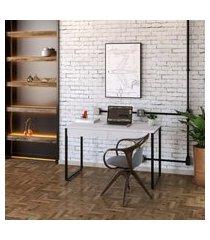 mesa de escritório kuadra 2 gv branca 120 cm