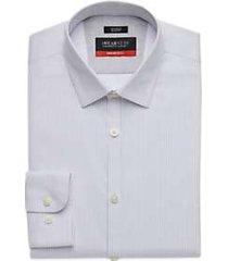 awearness kenneth cole awear-tech light blue woven stripe slim fit dress shirt