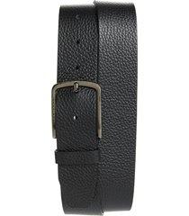 men's hugo sander pebbled leather belt, size 34 - black