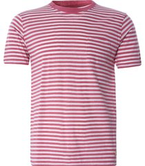armor lux striped heritage t-shirt | pink/natural | 76023-gxy