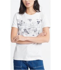 superdry women's vintage logo rose panel t-shirt