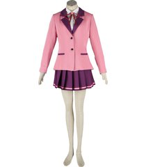 zeromart pink suit purple pleated skirt japanese school uniform cosplay