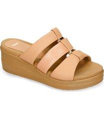 sandalias de plataforma rosado bata xelxal r mujer