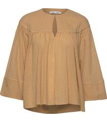 karol blouse 11463 blouse lange mouwen beige samsøe samsøe